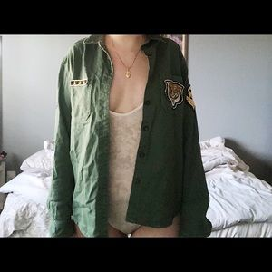 F21 Army Jacket w/ Patches